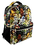 Lego Star Wars Boy's Girl's Adult 16 Inch School Backpack (One Size, Lego Star Wars)
