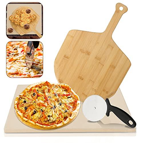 VINGO Pizzastein Ofen Schamottstein aus...