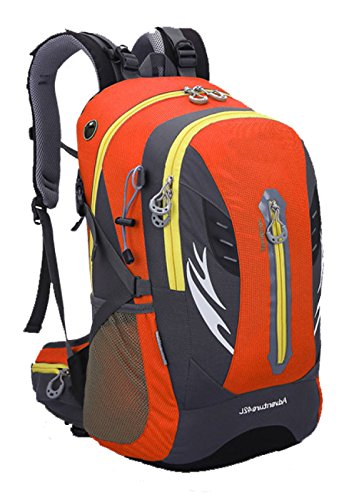 Lohh rugzak, hoge capaciteit, dubbele schouders, rugzak, bergbeklimmen, sporttas, vrije tijd, reistas Oranje