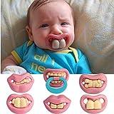 Bargain World Moda divertente bambino manichini manichino ciuccio scherzo denti novità labbro bambino succhietto
