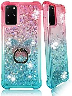 ZASE Samsung A71 5G Clear Case, Liquid Glitter Sparkle Bling Designed for Galaxy A71-5G Version ONLY Cute Women Girls Floa...