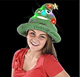 RINCO Light Up Christmas Tree Emoji Santa Hat