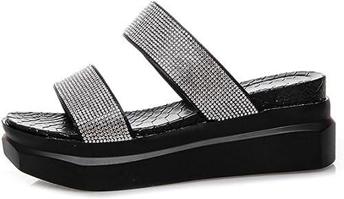 Sandales et Pantoufles Sandales à Talons en Strass pour Femmes, Femmes, à la Mode sauvage-blanc-39  en bonne santé
