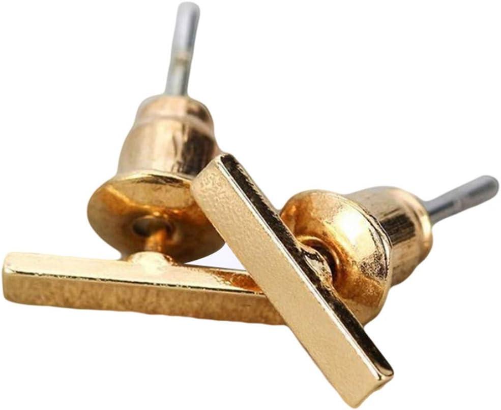 WEILYDF Bar Stud Earrings Simple Personality One-Word Line Small Stud Earrings Hypoallergenic Premium Everyday Stud Earrings