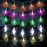 Herefun 5pcs Luces de Cadena Halloween 7.5M 50 LEDs, Lámpara de Halloween, Lámpara de Calabazas Fantasmas Murciélagos, Cadena Luces Halloween Decoracion para Exterior/Interior (5pcs)