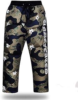 BAITE ONE Niños Niñas Abajo Pantalones Casual Elástico Espesar Niños Ropa Abajo Pantalones