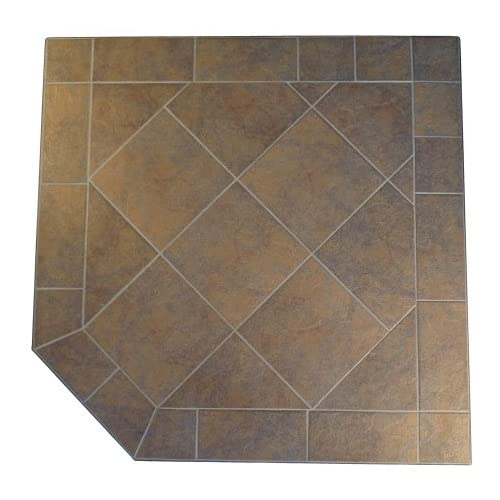 Kalvin International SP3-1912 48 x 48 Corner Hearth Pad - Standard Edge - Brown