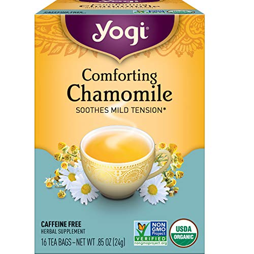 Yogi Tea - Comforting Chamomile (6 Pack) - Soothes Mild Tension - 96 Tea Bags