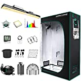 """MARS HYDRO Grow Tent Kit Complete 2x4ft SP3000 Samsung LM301B 960pcs LEDs Grow Light Meanwell Driver, 24""""x48""""x70"""" Growing Tent Kit Grow Tent Complete System 1680D Grow Tent with 4""""Ventilation Kit"""