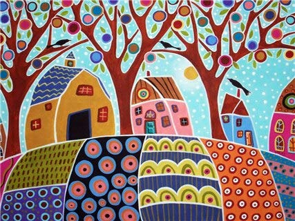 Taladro redondo completo 5D DIY pintura de diamantes árbol abstracto bordado de diamantes paisaje Kit de punto de cruz decoración del hogar A5 30x40cm