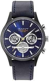 Gant Ridgefield Men's Blue Dial Leather Band Watch - G Gww005015, Analog Display