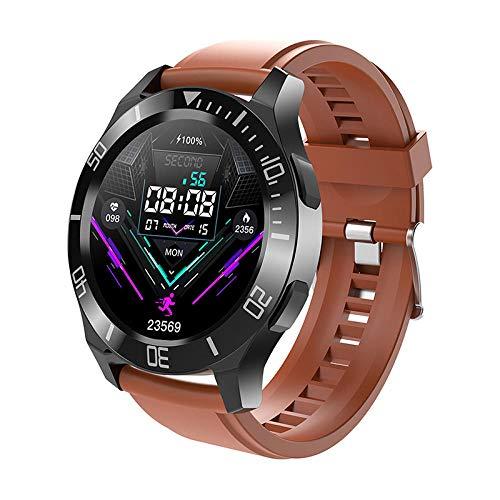Reloj Inteligente Mujer Hombre,Reloj Impermeable,frecuencia cardíaca, presión Arterial, oxígeno en Sangre, Ejercicio, Pulsera-marrón,Pulsera de Actividad Inteligente Reloj Deportivo