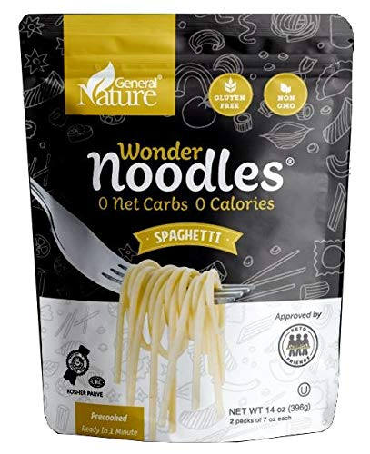 Wonder Noodles 2 Pack Keto Pasta - Zero Carb Noodles - Kosher, Vegan Friendly, No Sugar, No Fat - Ready to eat, Paleo Pasta - 2 Pack Spaghetti (28 Oz.)