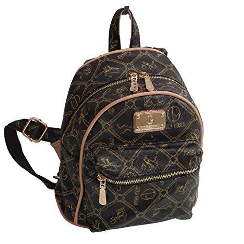 Giulia Pieralli Backpack - Damen Glamour Rucksack Handtasche Rucksacktasche (Coffee Beige) - präsentiert von ZMOKA®