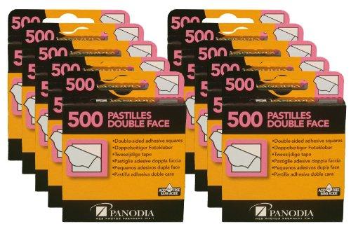 Panodia Lot de 10 boites de 500 pastilles Autocollantes Double-Faces