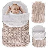 Bolsa de Pañales de Ganchillo para Bebés Recién Nacidos Bolsa de Pañales de Ganchillo de Punto Infantil para Bebés de 0-12 Meses