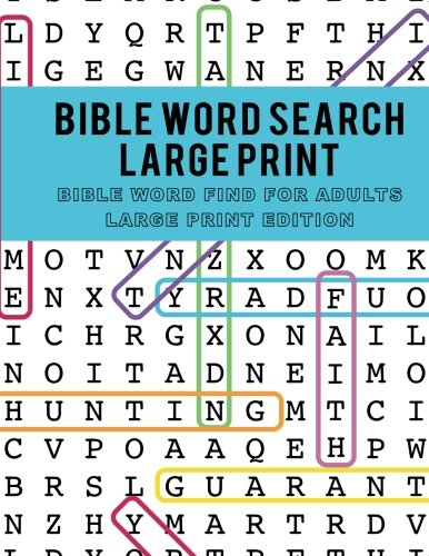 Bible Word Search Large Print: Bible Word Find for Adults Large Print Edition