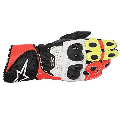Alpinestars GP Plus-R Sport Track Motorradhandschuhe - Schwarz/Weiß/Rot/Neon - Schwarz/Weiß/Rot/Neon, M