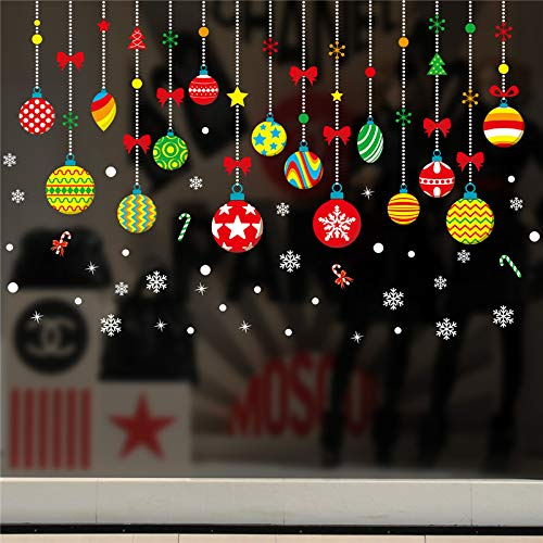 GADGETS WRAP Merry Christmas Candy Gifts Wall Stickers for Kids Rooms Window Home Decor New Year Wall Decals PVC DIY Wallpaper