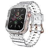 ANBEST Pulsera Transparente Compatible con Apple Watch 6/5/4/SE Correa 40mm con Funda Protectora de Silicona Integrada para Apple Watch 3/2/1 38mm