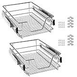 UISEBRT 2x Cajón de cocina Cajón telescópico 50cm - Armario extraíble de cocina (50cm)