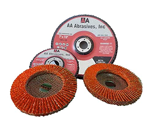 AAAbrasives Recommended 7x7 8#60 Premium Ceramic T-29 Latest item Angled Abrasive Flap