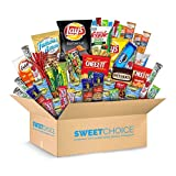 Sweet Choice (40 Count) Ultimate Sampler Mixed Bars, Cookies, Chips, Candy Snacks Box for Office, Meetings, Schools,Friends & Family, Military,College, Halloween , Snack Variety Pack