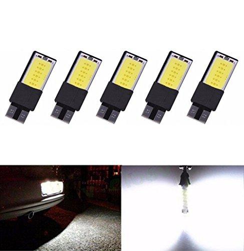 Covermason 5pcs Canbus T10 s/n lâmpada intérieur 194 168 W5W