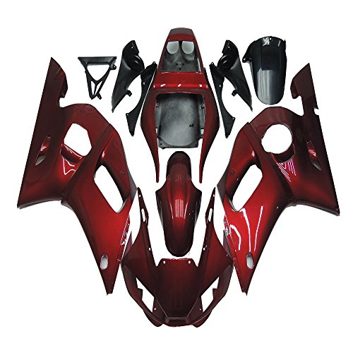 NT FAIRING New Glossy Red Injection Mold Fairing Fit for Yamaha 1998-2002 YZF R6 1999 2000 2001 Painted Kit ABS Plastic Motorcycle Bodywork Aftermarket
