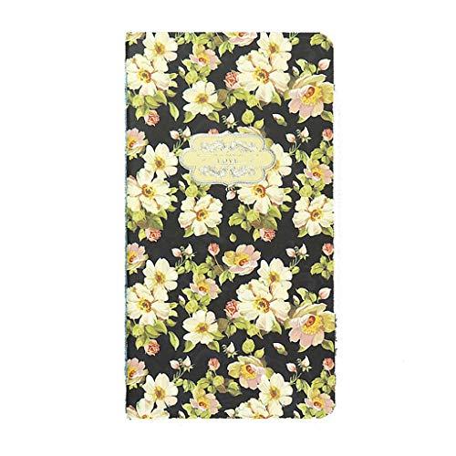 WFS Diarios 2019 Planificador Retro Cuaderno en Blanco y Diario de Escritura Cumpleaños Separado Oxford Pocket Flor Cuaderno de Dibujo Notebook (Color : A, tamaño : 4PCS)