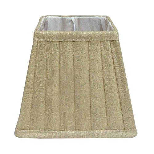Better & Best lampenkap van zijde, vierkant, smalle plaat, 30 cm, beige
