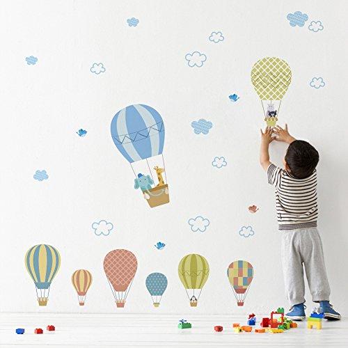 Dibujos Animados Lindos Globos de Aire Caliente Pegatinas de Pared Wallpaper DIY Vinilo casa Tatuajes de Pared para niños Sala de Estar Dormitorio niñas decoración de la habitación