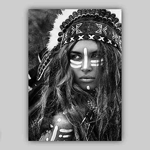 Aaylgt Lienzo para Carteles de impresión artística, Gicilio, Circo Gitano, Mitología pagana, Diosa psicodélica Bohemia animación Pintura al óleo 40x60cm