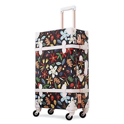 UNITRAVEL Suitcase Vintage Travel 55 Centimeters 31 Liters 4 Wheels Flower Number Lock