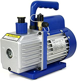 ZENY 3,5CFM Single-Stage 5 Pa Rotary Vane Economy Vacuum Pump 3 CFM 1/4HP Air Conditioner..