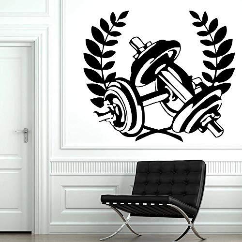 HGFDHG Etiqueta de la Pared del Gimnasio decoración de la Oficina Culturismo Mancuernas Vinilo Pared calcomanía decoración del Gimnasio en casa