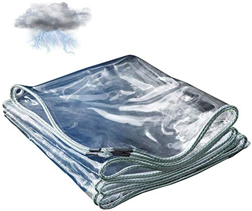 Lona De Cubierta Impermeable Transparente A Prueba De Polvo, Lonas De Plástico Lona De PVC Con Aislamiento Antienvejecimiento, Para Muebles De Jardín, Almacenamiento De Apert(Size:2x 3m,Color:Claro)