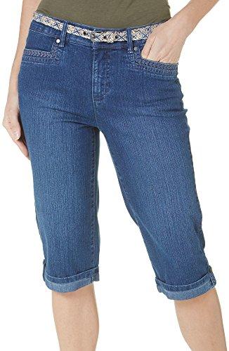 Gloria Vanderbilt Womens Marnie Denim Shorts 8 Phoenix blue