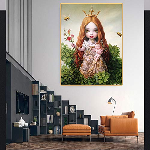 Puzzle 1000 Piezas Árbol de la Vida de Dibujos Animados niña Abrazando a bebé Puzzle 1000 Piezas Adultos Juego de Habilidad para Toda la Familia, Colorido Juego de ubicación.50x75cm(20x30inch)