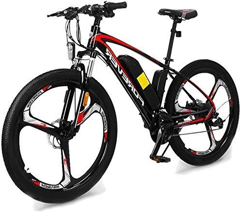 Bicicleta de montaña eléctrica, Bicicletas for adultos eléctricos, acero de alto carbono Ebikes Bicicletas todo terreno, 26' 36V 12Ah extraíble de iones de litio Montaña Ebike for Hombres ,Bicicleta