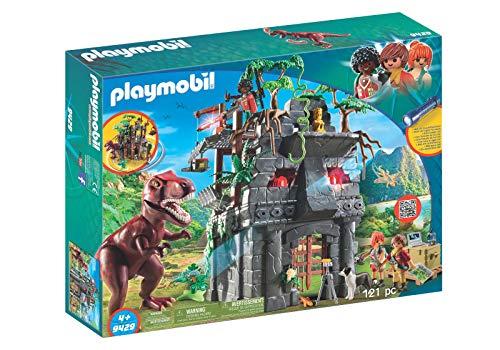Outletdelocio.. Playmobil 9429. Gran Campamento Base Dinosaurios. Incluye T-Rex, Lampara UV y Cañon con Luces