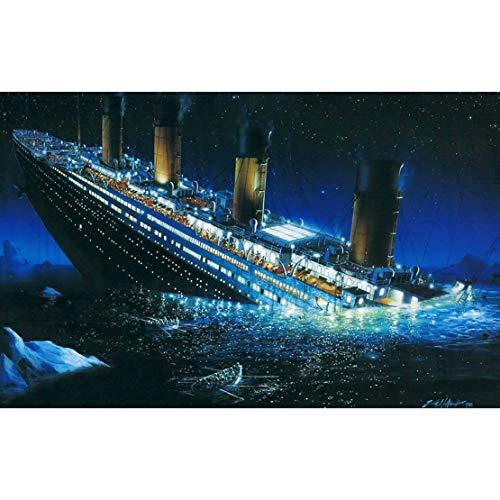 YC-JIGSAW Titanic en el barco hundido HD rompecabezas de madera 300/500/1000 Piezas como regalo y juguetes for adultos o niños (tamaño : 500)