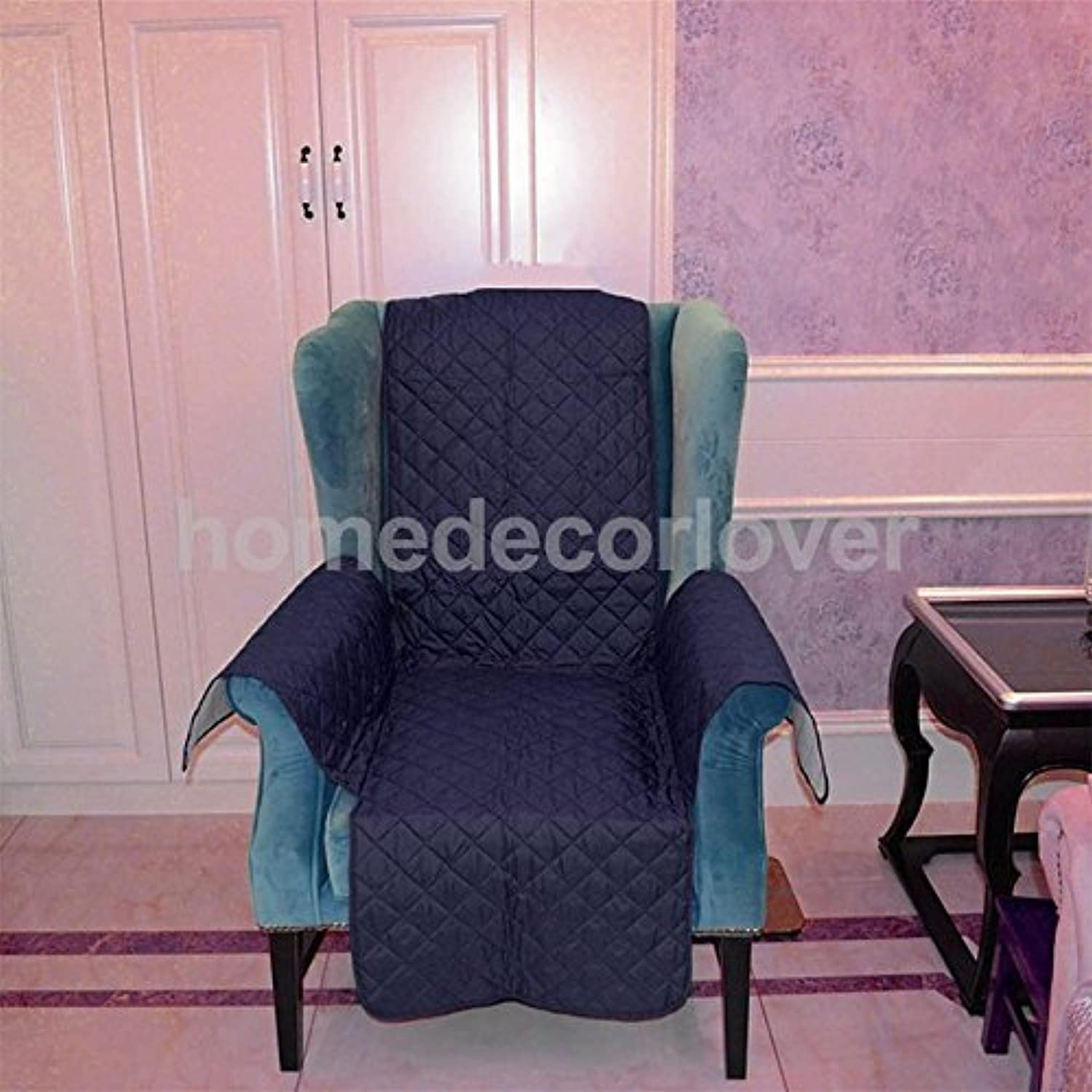 Various Furniture Predector Pets SLIPCOVER 1 2  3 SEAT Quilted Sofa Couch Cover Please Pick   Dark bluee 1 Seater