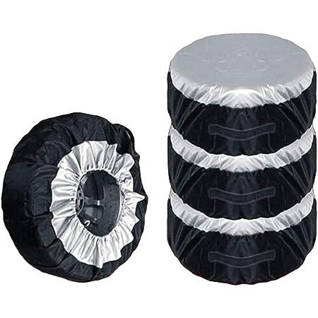 Qiilu Reifentaschen Reifenabdeckungen 4 Stück Radschutzhülle Wohnwagen Passt 27 Bis 29 Zoll Reifengröße Universal Reifenabdeckung Für Anhänger Wohnmobil Wohnmobil Auto Lkw Wohnmobil Radschutz Auto