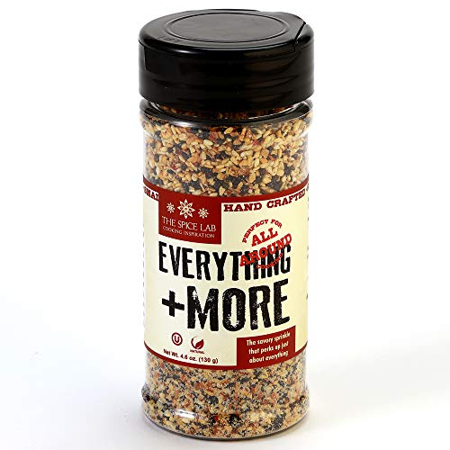 The Spice Lab Everything Bagel Seasoning – 4.6 oz Shaker Jar - Premium Gourmet PALEO and KETO Approved Spice - The Perfect Everything Seasoning - Popcorn Seasoning Blend - 7079