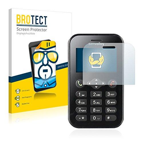 BROTECT Schutzfolie kompatibel mit Simvalley Mobile RX-482 Pico (2 Stück) klare Bildschirmschutz-Folie