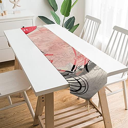"""by Unbranded Camino de mesa de 228,6 x 33 cm, decoración de mesa para el hogar, diseño de torre Eiffel con texto en inglés """"I Love You"""", decoración de mesa para boda, cocina, comedor, fiesta festiva"""