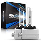 Marsauto D3S HID Bulb 5000K Xenon HID Replacement Bulb Pure White with Gloves 35W for 12V Cars High Low Beam 2Pack