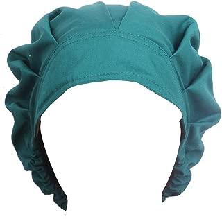 Doctor Scrub Cap Adjustable Sweatband Bouffant Cotton Hats for Women Ponytail