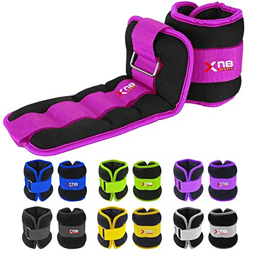 Xn8 Neoprene Ankle Weights Straps 0.5kg-3kg Pair Legs Weight For Running-Jogging-Walking-...